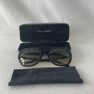 DOLCE & GABBANA Cat Eye Sunglasses w/Case & Cloth